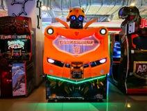 Video gioco della galleria di simulazione di azione del trasformatore del bombo Fotografie Stock