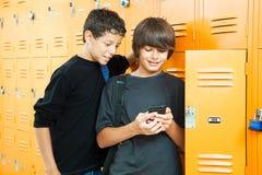 Video gioco a scuola immagini stock libere da diritti