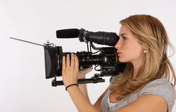 Video Girl Royalty Free Stock Photo