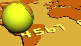 Video of gold globe and credit card stock video footage
