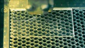 Video graving di intervallo di tempo macchina di Lazer stock footage
