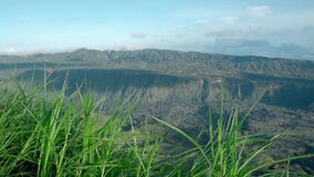 Green valley formed from volcano many years ago