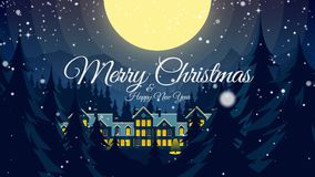 Video greeting with Merry Christmas and Happy New Year! stock video