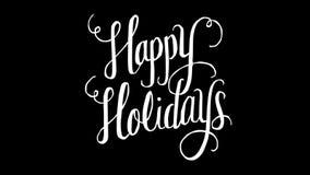 Happy Holidays text vector illustration