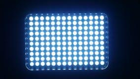 Video heldere zwarte verlichtingsleiden, aan en uit, stock videobeelden