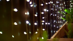 Video holiday season background, Christmas lighting close up twinkling lights for decoration stock footage
