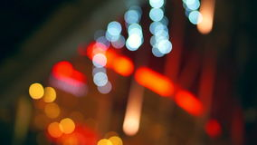 Video Holiday seasons night city is defocused with nice bokeh background stock video