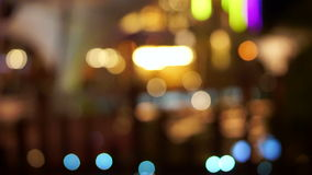 Video Holiday seasons night city is defocused with nice bokeh background stock footage