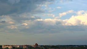 Video i den Poltava staden i Ukraina arkivfilmer