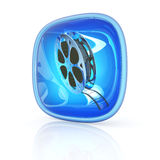 Video icon 3d Royalty Free Stock Image