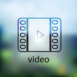 Video icon.  on background blurred Royalty Free Stock Photos