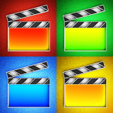 Video icon. Clapperboard. Royalty Free Stock Photography