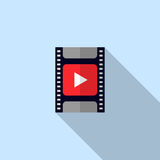 Video icon movie filmstrip Stock Images