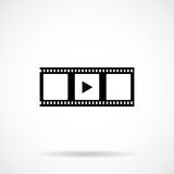 Video icon movie filmstrip Royalty Free Stock Photography