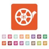 The video icon. Movie symbol. Flat Stock Image