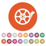 The video icon. Movie symbol. Flat Royalty Free Stock Photo
