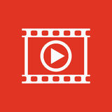 The video icon. Play and player, movie, cinema symbol. Flat Stock Photo