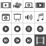 Video icon set Stock Photo