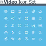 Video icon set Royalty Free Stock Photo