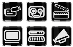 Video icon set Royalty Free Stock Images