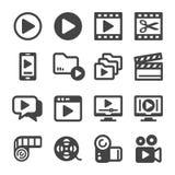 Video icon set vector illustration