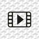 Video icon stock vector illustration flat design Stock Images
