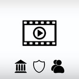 Video icon, vector illustration. Flat design style Royalty Free Stock Image
