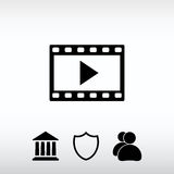 Video icon, vector illustration. Flat design style Royalty Free Stock Photo