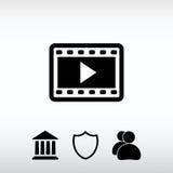 Video icon, vector illustration. Flat design style Stock Photo