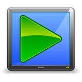 Video icona Fotografie Stock Libere da Diritti