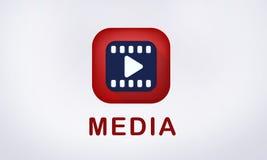 Video icona del gioco di media d'intrattenimento illustrazione vettoriale