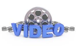 Video icona di concetto. Fotografie Stock