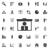 Video icona di presentazione di chiamata Fotografia Stock