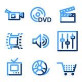 Video icone Immagini Stock