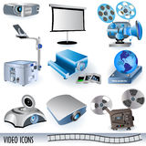 Video icons Stock Image