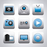 Video icons Royalty Free Stock Image
