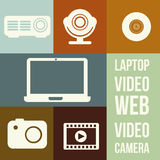 Video icons Stock Photography
