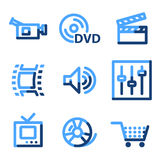 Video icons Stock Images