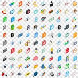 100 video icons set, isometric 3d style Royalty Free Stock Photo