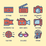 Video Icons Royalty Free Stock Photo