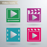 Video icons. Vector illustration eps 10 Royalty Free Stock Photo