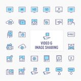 Video & Image Sharing Icon Set stock photography