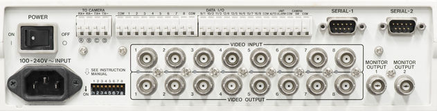 Video input and output plug connector. Royalty Free Stock Image