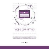 Video insegna di web di affari di vendita di Digital con lo spazio della copia royalty illustrazione gratis