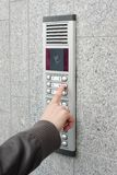 Video intercom in the entry of a house Royalty Free Stock Photos