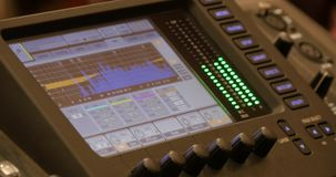 Video Interface Of Audio Digital Mixing Console stock video footage