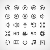 Video interface icon on white. Vector Royalty Free Stock Photo
