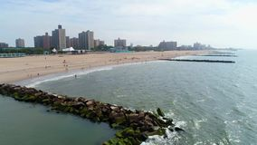 Video isola aerea di Brighton Beach New York Coney archivi video