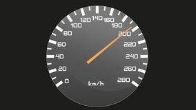 Video of isolated speedometer - tachometer, accelerating and slowing down stock video footage