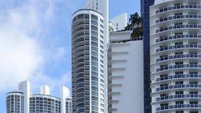 Video 4k der modernen Architektur Süd-Florida stock video footage